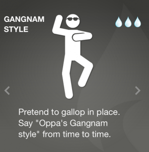 Hotseat offers 40+ activities to choose from. Because not everyone's going to want to do Gangnam Style at the office.